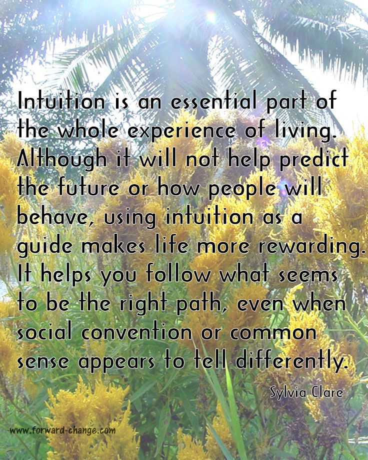 It can be tricky some times to follow your #intuition. That's why you need to practice regularly.