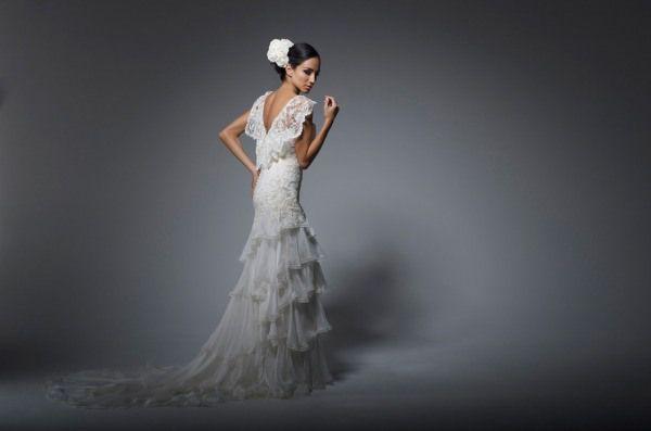 Flamenco Dressses Backless Rosalynn Win Wedding Dress