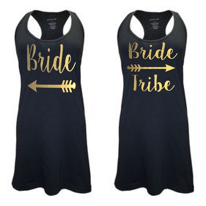 d8215d7b54 Bride   Bride Tribe. Matching Bridal Party Racer Back Swim Suit Cover Up. Bathing  suit cover up. Tank Top Dress. Sleep Tanks.