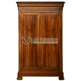 Classic French Style Armoire Brown Mahogany,Code Sell Classic Armoire  Antique 2doors 342