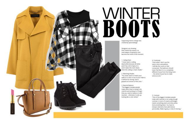 """""""winter boots"""" by silencejune on Polyvore featuring Barbara Bui, Red Herring and Kevyn Aucoin"""