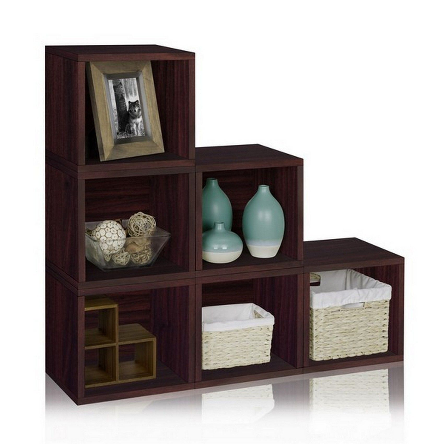 Exceptional Jetmax Storage Cubes And Racks And Espresso Wooden Stackable Cube Also  Organization Also Furniture Also Closet