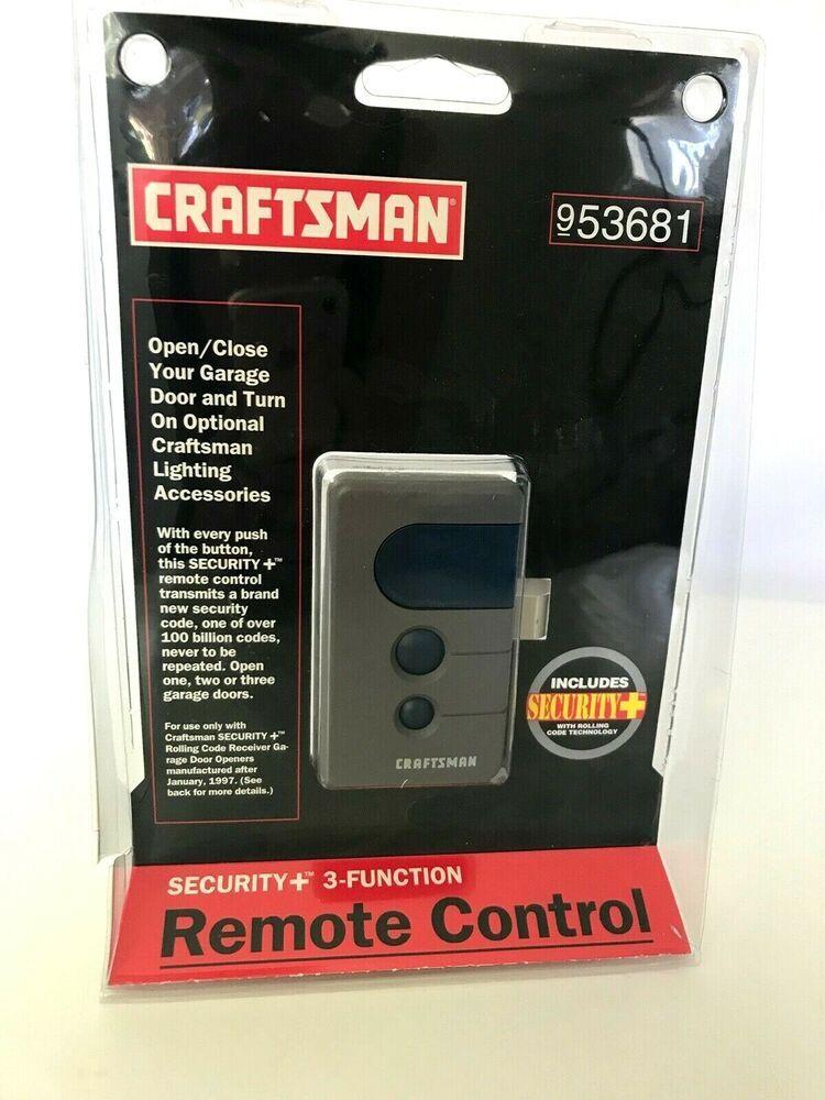 New Genuine Craftsman 3 Function Garage Door Opener Remote Control 953681 Sealed Craftsman In 2020 Garage Door Opener Remote Craftsman Garage Door Opener Garage Doors