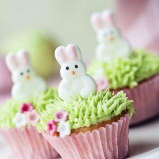 Cupcakes de Conejo de Pascua