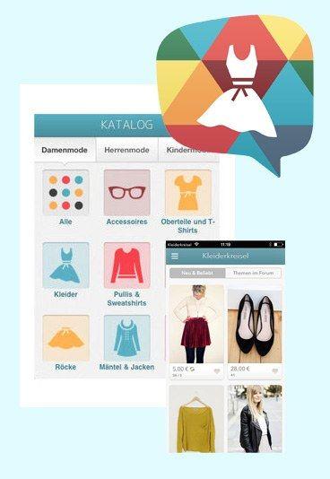 Kleiderkreisel: Schnäppchen jagen - Mode-Apps für Fashionistas: Fashion-Apps im Vergleich
