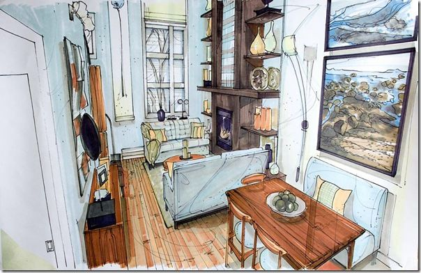 Candice Olson Interior Rendering Tiffany Leigh Interior Design New Term Sketchbook