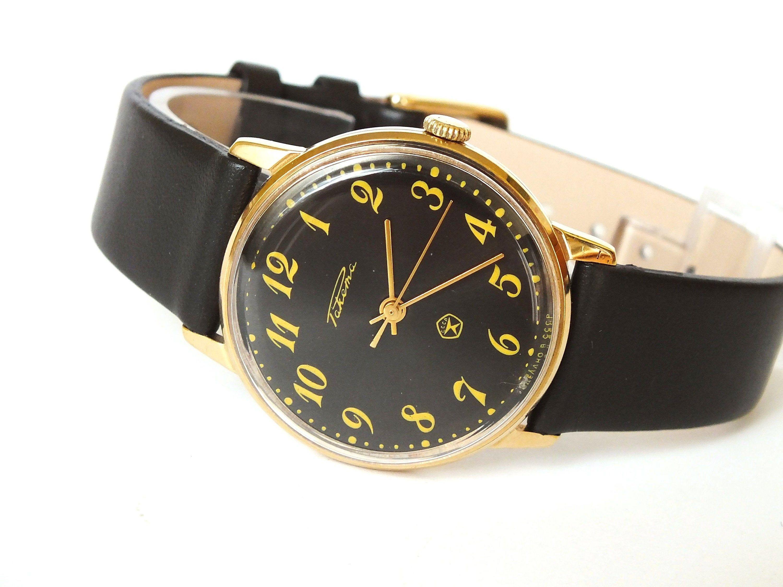Mens Watch Vintage Raketa Watch Black Watch Thin Mens Dress Etsy Vintage Watches For Men Vintage Watches Mens Dress Watches [ 2250 x 3000 Pixel ]