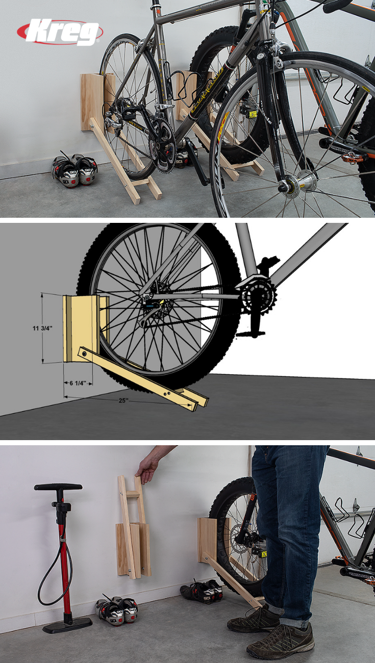 Free Project Plan Bike Racks Bike Storage Garage Bike Rack Garage Diy Bike Rack