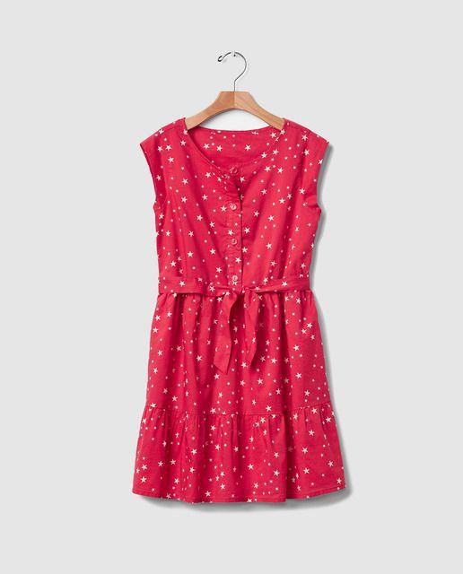 eceab5336df Vestido de niña Gap rosa con estampado de estrellas