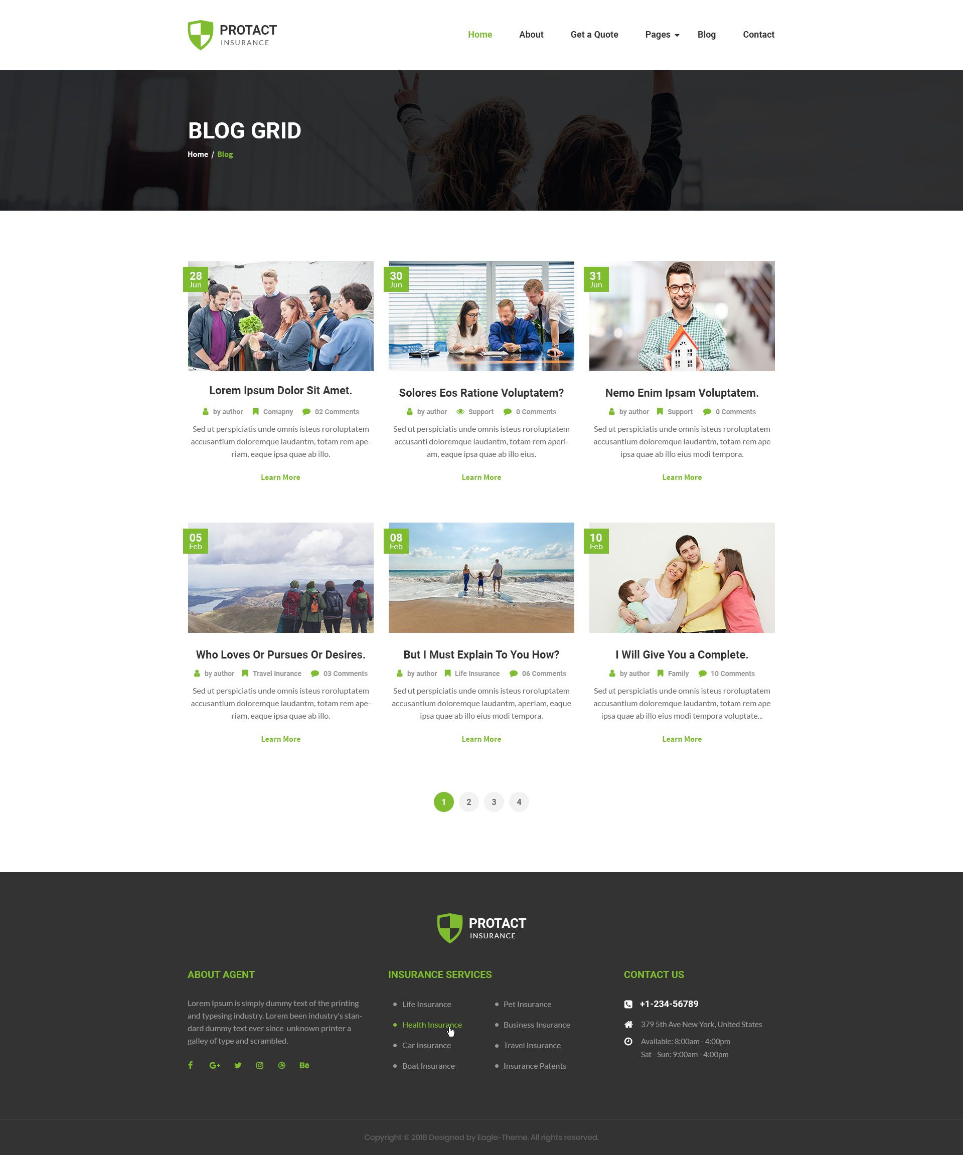 Protact Insurance Agency Business Psd Template With Images Insurance Agency Insurance