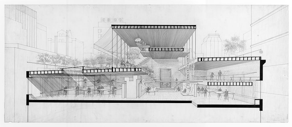 A Selection Of Paul Rudolph S Perspective Sections Paul Rudolph
