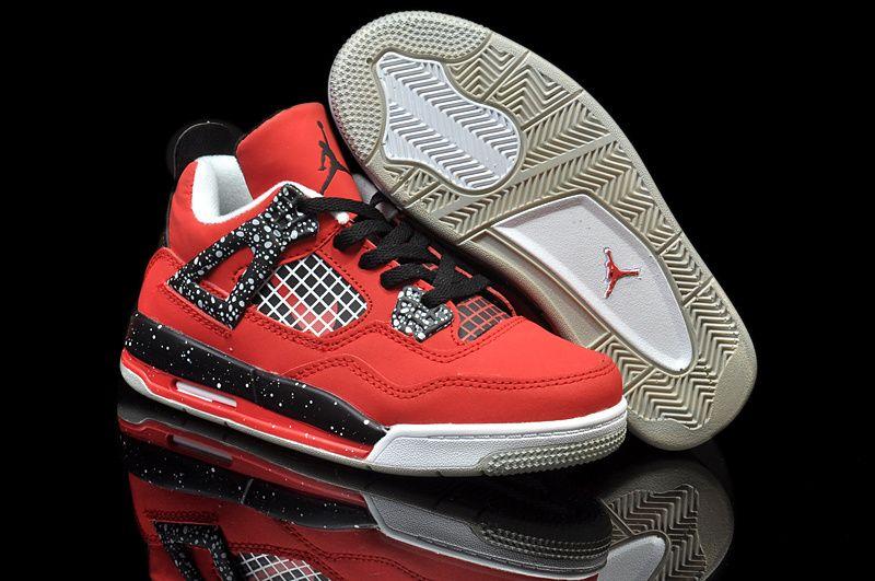 on sale 10e9d 1cc0d Air Jordan Women Shoes Kids Jordan 4 Speckle Red Black  Kids Jordan 4 - Kids  Jordan 4 Speckle Red Black is designed in a red theme here, along with the  ...