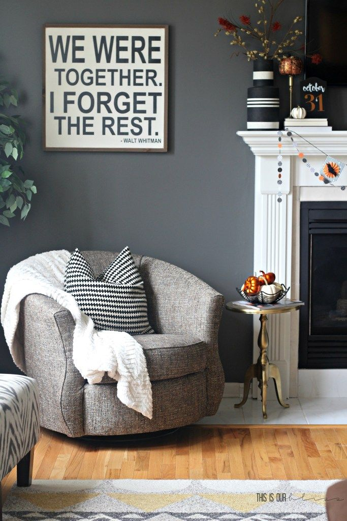 Last-Minute Decorating Simple Halloween Mantel Mantels, Bliss and