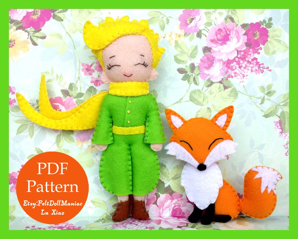 The Little Prince and Fox. Felt Doll. Felt pattern. PDF Pattern ...