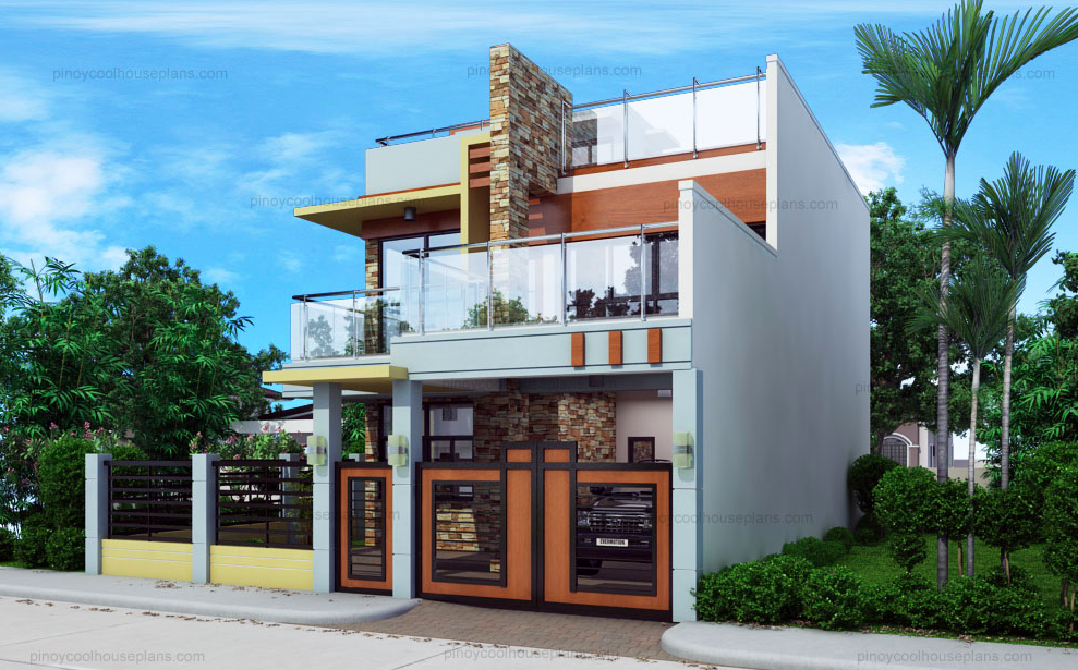 Splendid Modern Double Storey House Plan Amazing Architecture Magazine In 2020 Double Storey House Plans House Plans Modern House Design