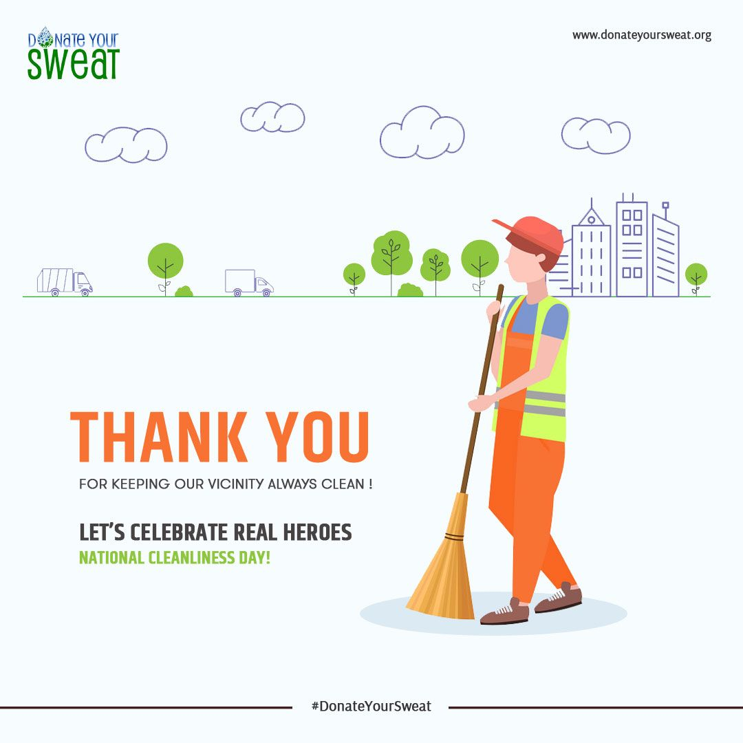 National Cleanliness Day They Don T Want Public Attention Your Thank You Will Be A Work Of Encouragement F Graphic Design Posters Lets Celebrate Cleanliness