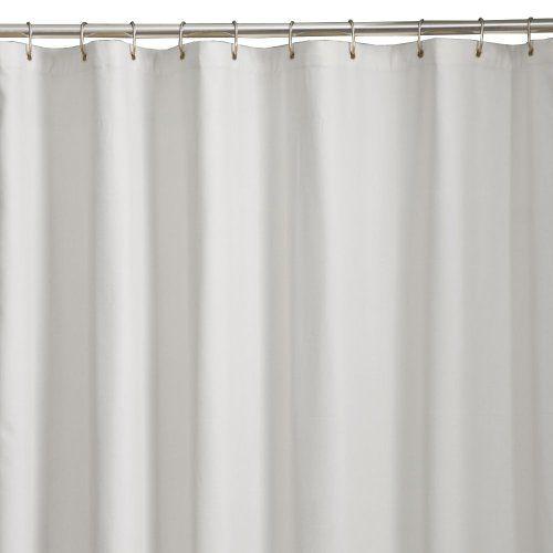 Amazon Com Maytex Microfiber Shower Curtain Liner White