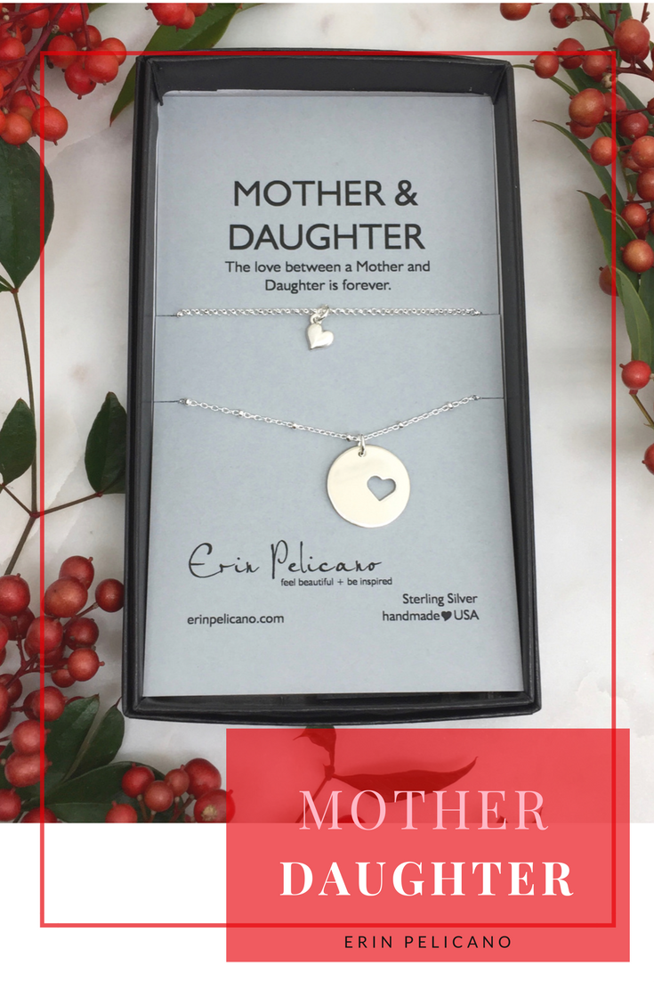 Mother Daughter Necklaces Sterling Hearts | Erin Pelicano Collection ...