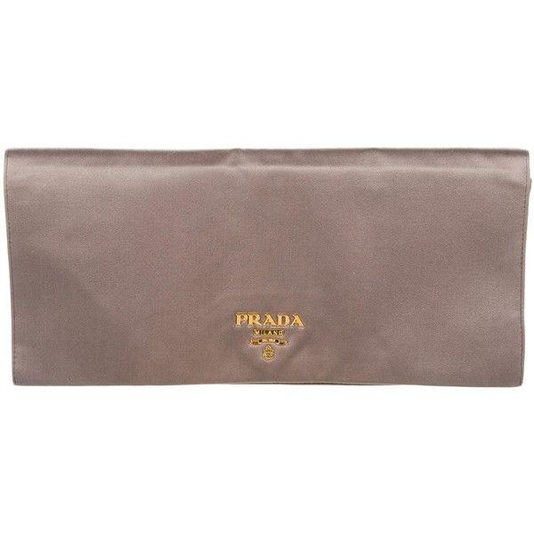 919d9d2802a5 ... clearance pre owned leather clutch bag prada caddd 858e0