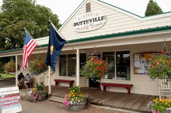 Historic Butteville Store,  Champoeg state park Ride your bike or walk and have an ice cream or a root beer float. May-Sept