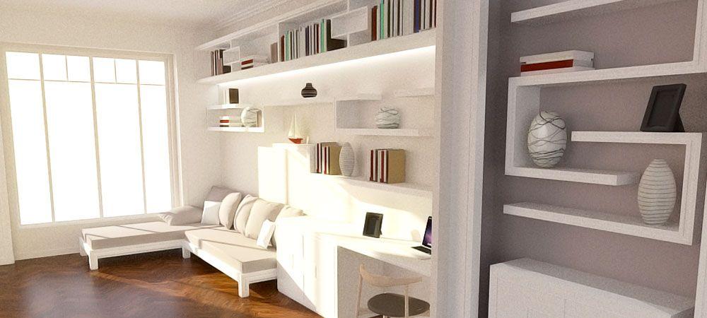 Aménagements et création de mobilier, Quartier Brotteaux, Lyon 6 ...
