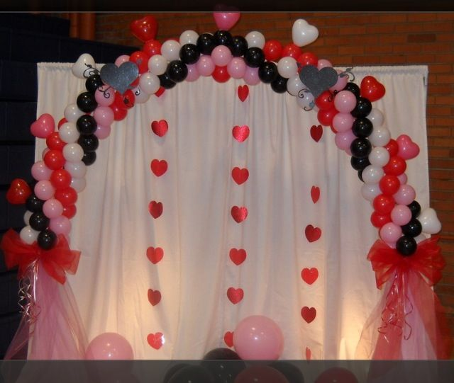 Balloon Arch Valentines Or School Dance