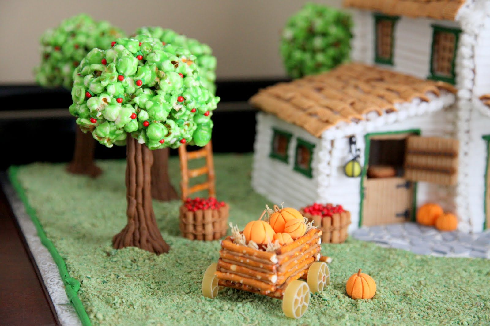 Love the popcorn ball trees and the pretzel wagons
