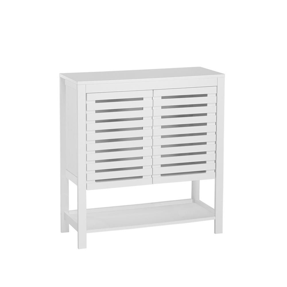 Riverridge Home Bayfield 30 In W 2 Door Floor Cabinet In White Free Standing Cabinets Top Of Cabinets Flooring