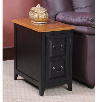 charlton home apple valley end table with storage color slate in rh pinterest com