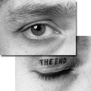 THE END - Wackelbildkarte, von Timm Ulrichs signiert u. nummeriertes Multiple