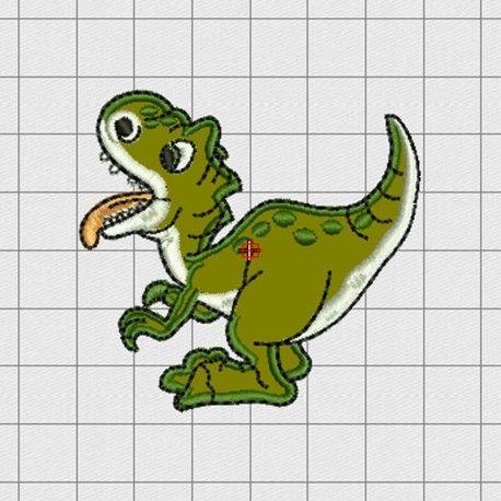 Bordado Dinosaurio Bordado Disenos De Unas Dinosaurios