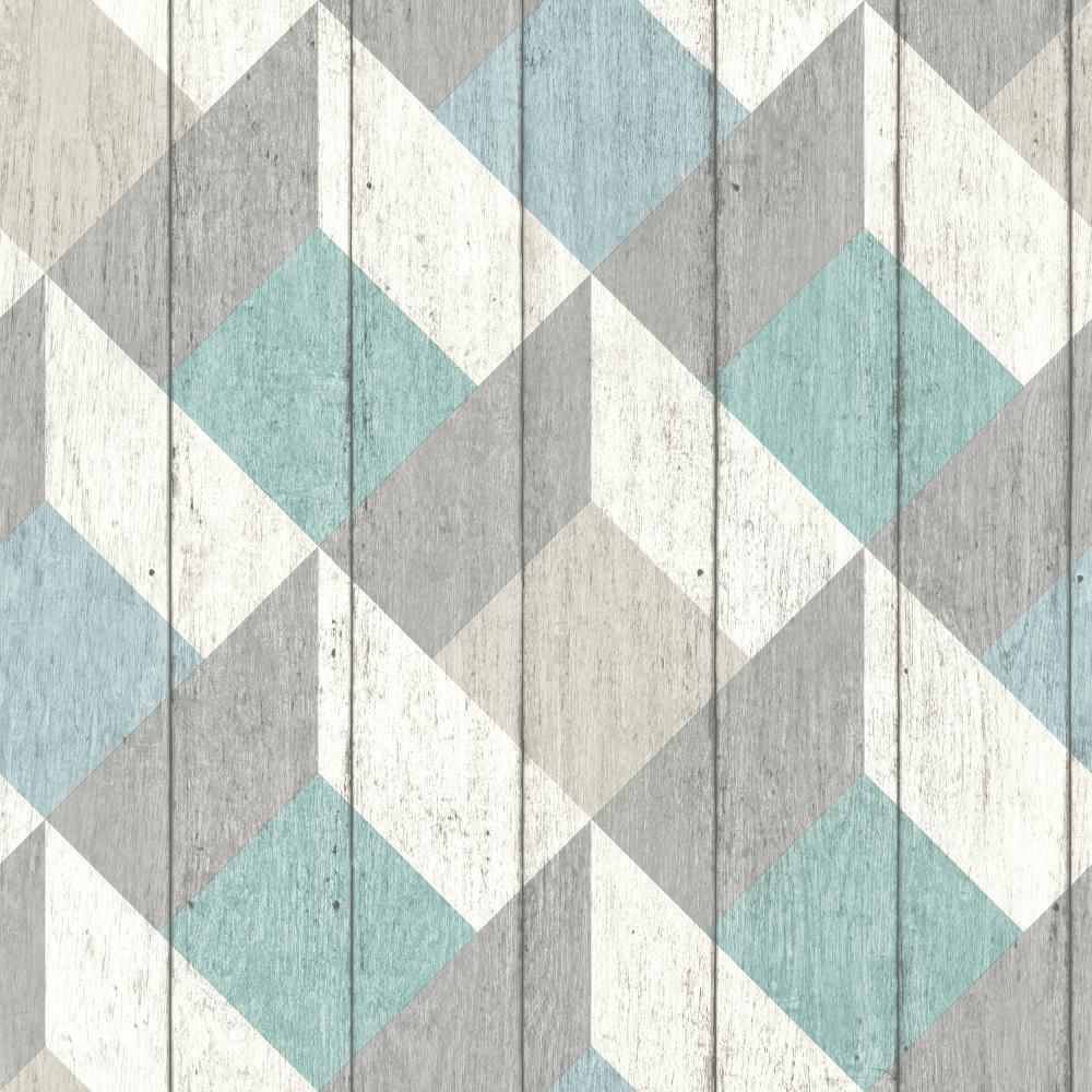 GALERIE UNPLUGGED WOOD PANEL EFFECT TRIANGLE PATTERN