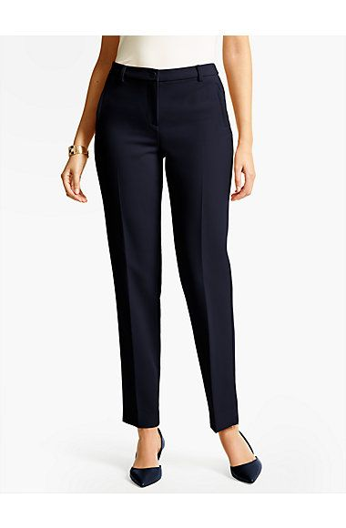 Talbots Hampshire Ankle Pant - Curvy/Double Weave - Talbots