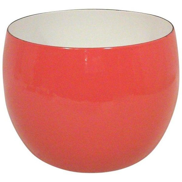 Plastic Decorative Bowls Best Dansk Ihq Red Enamel Bowl 5160 Rub ❤ Liked On Polyvore Design Decoration
