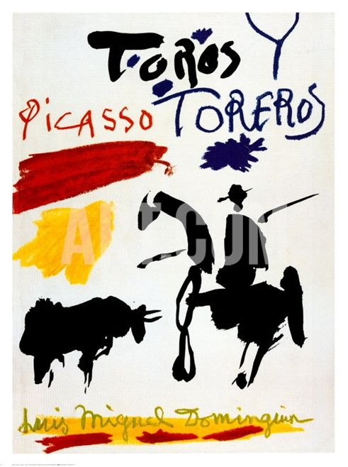 Bull with Bullfighter by Pablo Picasso