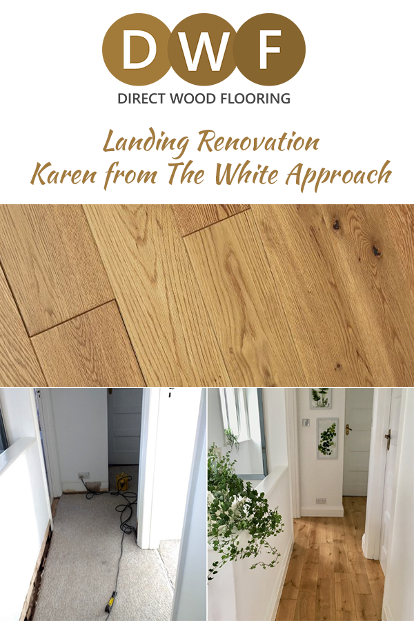 The White Approach Landing Renovation Direct Wood