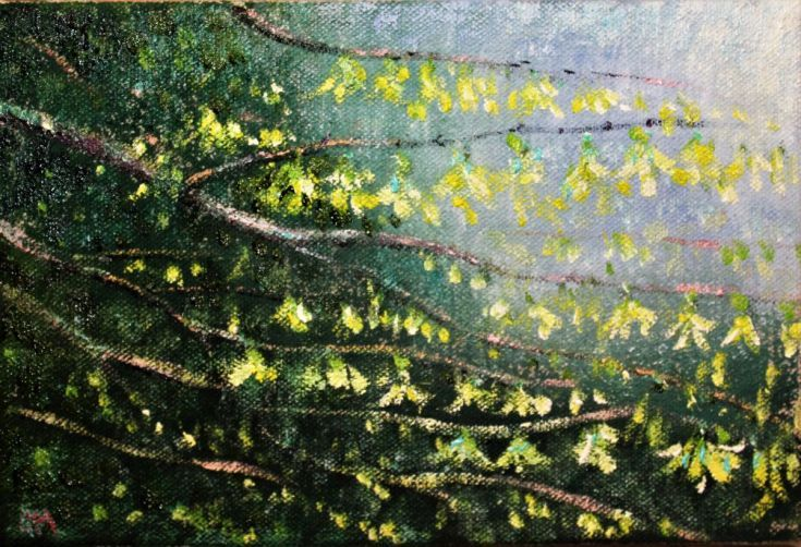 Buy Forsythia Blossoms - Day 215/365 Postcards from Pembrokeshire, Oil painting by Guy Manning on Artfinder. Discover thousands of other original paintings, prints, sculptures and photography from independent artists.