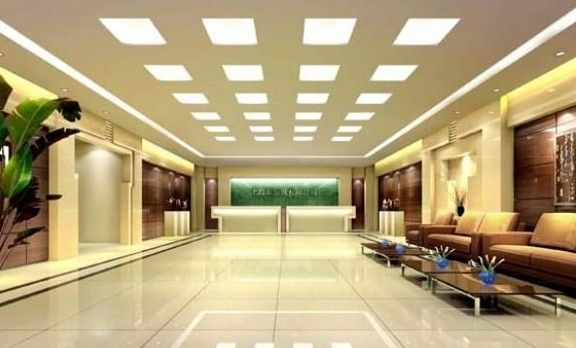 Led Panel Light Hospitality Reception Area Pinterest
