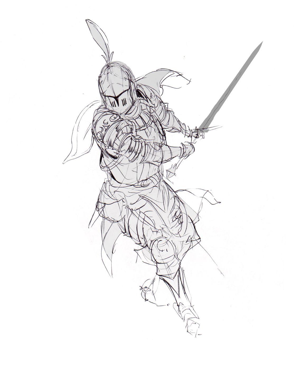 Knight Sketch Art