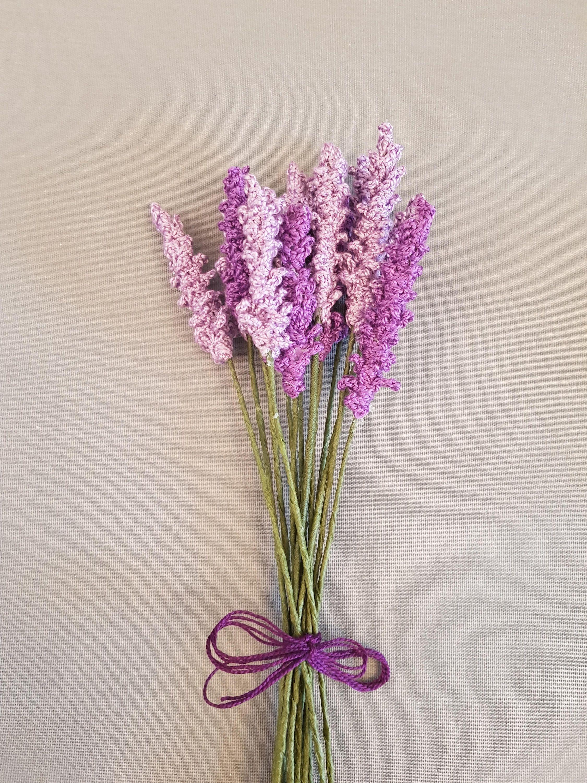 Lavender Flower Crochet Pattern Photo Tutorial Purple Garden Etsy In 2020 Crochet Flowers Purple Garden Lavender Flowers