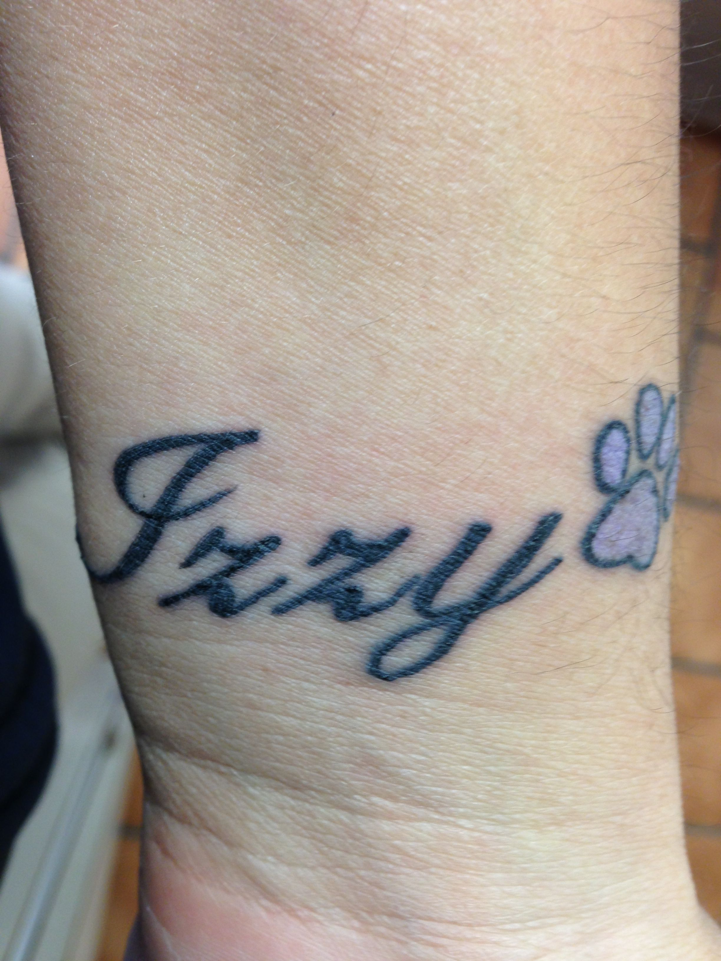 Memorial tattoo for my first dog izzy favorite ink for Tattoos in remembrance of dog