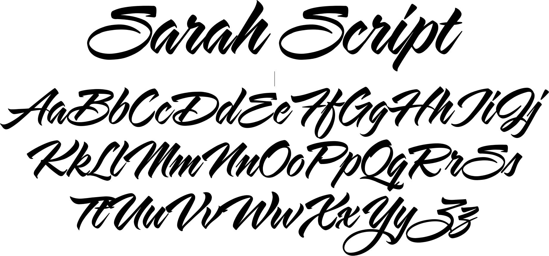 Sarah Script Font Dafont