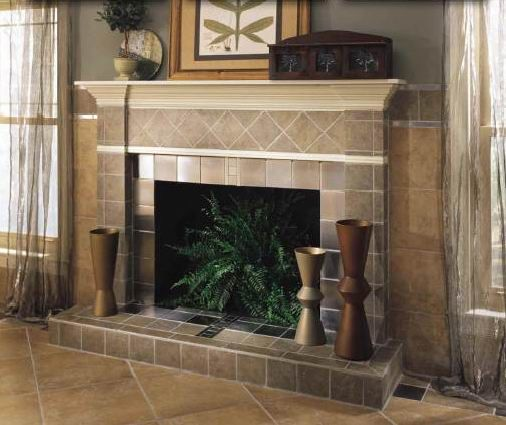 Wall tiles and Pellet stove
