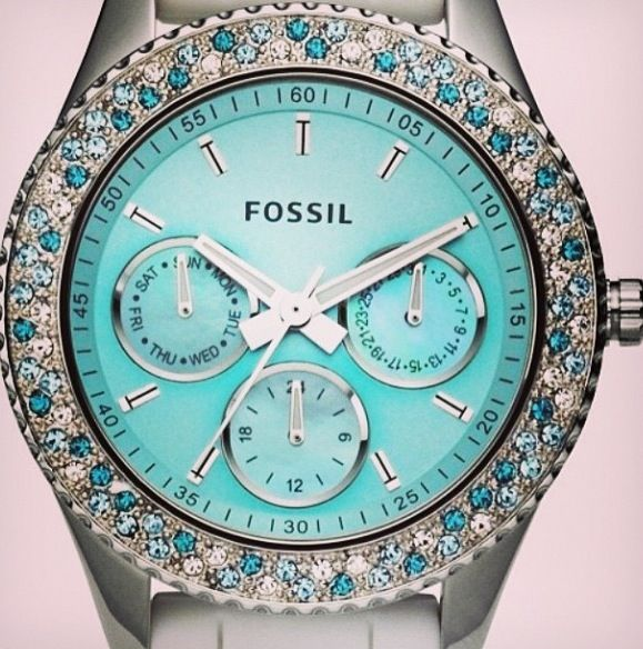 Tiffany Blue Fossil Watch I Need This In 2019