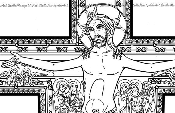 The Cross Of San Damiano Coloring Page And Workbook Coloring
