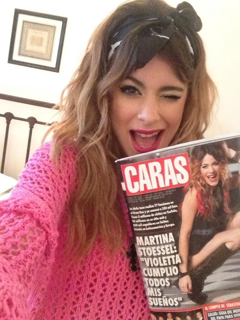 Martina Stoessel en laa revista Caras!! | violetta | Pinterest ...