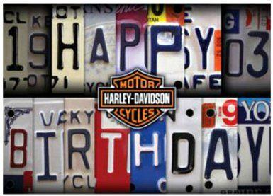Harley Davidson Birthday Card My Birthday Glückwünsche