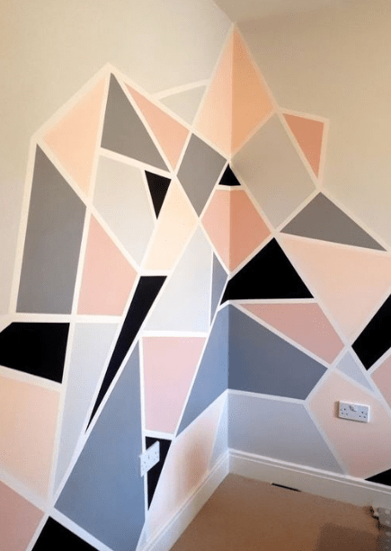 25 Diy Tape Mural Wall Art Paint Ideas Eweddingmag Com Bedroom
