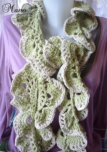 free pattern for crochet ruffle scarf | does anyone have this patten ...