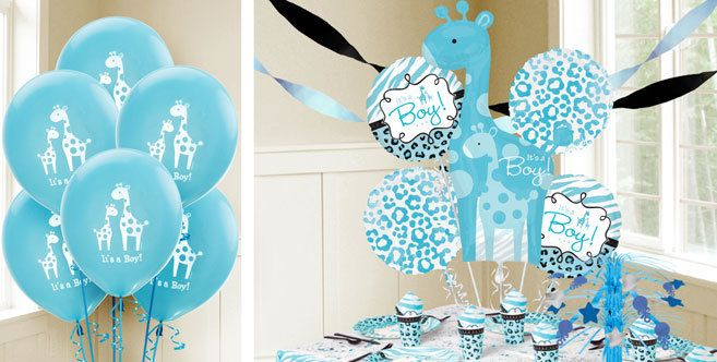 Blue Wild Safari Baby Balloons Party City Sophs baby shower